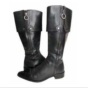 Angela Falconi Embossed Leather CapToe Riding Boot